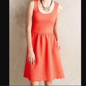 Anthropologie Coral Maeve Dress